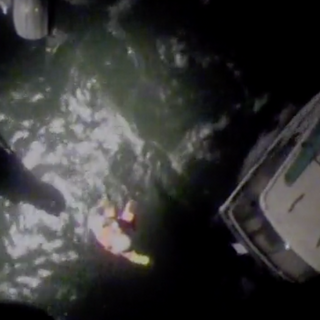 WATCH: Coast Guard uses helicopter to pluck couple and their dog from boat stuck in rough waters Oregon coast
