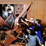More fighting as Taiwan opposition again occupies parliament | The Japan Times