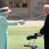 Arise Sir Tom: Queen knights 100-year-old fundraising captain