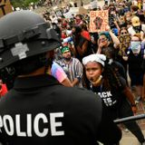 Anti-police protesters mob rally supporting law enforcement in Denver's Civic Center