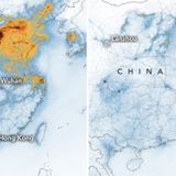 Maps show drastic drop in China's air pollution after coronavirus quarantine