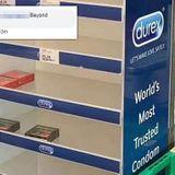 People buying up condoms to put them on FINGERS to avoid coronavirus