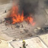 LAFD battles massive commercial fire in Pico-Robertson area