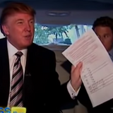 Trump's Other 'Access Hollywood' Tape Shows Him Voting by Mail After Struggling to Find a Polling Place (WATCH)