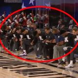 The Whole Pelicans And Jazz Took A Knee During The Anthem In The NBA Restart