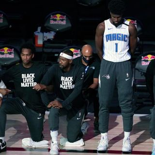 Jonathan Isaac responds after being the lone NBA player to stand for National Anthem