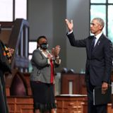 Obama slams an absent Trump in eulogy for US civil rights icon John Lewis