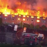 Residents, firefighters injured in massive Pa. apartment building fire