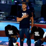 Former Trail Blazer Meyers Leonard explains why he didn't kneel with Heat teammates for anthem