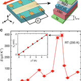 Record thermopower found in an IrMn-based spintronic stack
