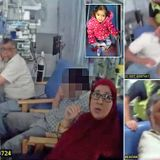 Police violently drag a father from his dying six-year-old daughter