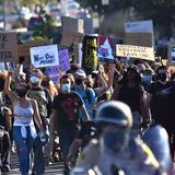 Taunted by 'Defenders,' 300 March in La Mesa to Demand Justice - Times of San Diego