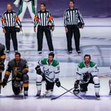 Four Stars, Knights players kneel during U.S., Canadian anthems