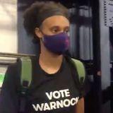 WNBA Players Back Kelly Loeffler's Senate Opponent With 'Vote Warnock' Shirts