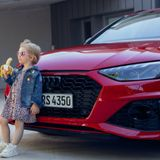 Audi apologises for 'insensitive' advert showing little girl eating a banana