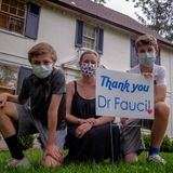 As Fauci battles the pandemic and politics, his grateful neighbors celebrate him as a hero