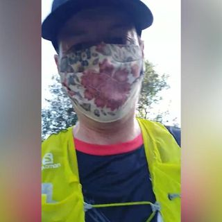 A doctor runs 22 miles in a face mask to prove that they are safe