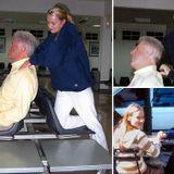 Bill Clinton receives neck massage from Jeffrey Epstein victim