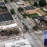 Aerial images show destruction waiting for Donald Trump in Kenosha