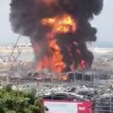 Enormous fire breaks out at Beirut port weeks after explosion destroyed city