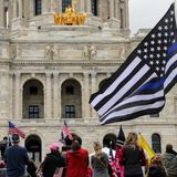 Two arrested at political rally outside Capitol in St. Paul