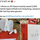 "Feds proudly announce seizure of ""counterfeit Apple AirPods"" that are actually OnePlus Buds"
