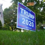 Mass. man puts electric fence around Trump sign to protect it from thieves