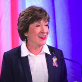 In a Maine Senate Race Debate, Susan Collins Struggles to Distance Herself from Trump