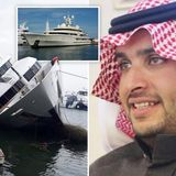 Saudi Prince's $79million superyacht capsizes and partially sinks in Greece