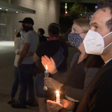 In downtown Los Angeles, a quiet vigil reflects on the life and work of RBG