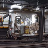 Manhattan subway train derails after laughing saboteur throws metal clamps on tracks: police sources