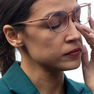 """Alexandria Ocasio-Cortez sheds tear and says """"we are standing on native land"""" as she calls to defund ICE"""