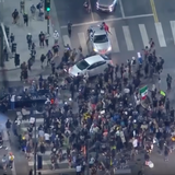 No arrests made after 2 vehicles drove through crowd of protesters in Hollywood, LAPD says