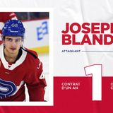 Canadiens agree to terms on a one-year contract with Joseph Blandisi