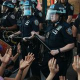 Hey, Honey; How About Dinner & Video of NYPD in Riot Gear Battling Protesters Amid Outdoor Diners?