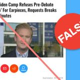 False Information About Presidential Debate