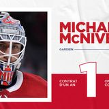 Canadiens agree to terms on a one-year contract with Michael McNiven
