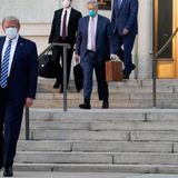 Trump Leaves Hospital Monday Evening, as White House Cases Mount