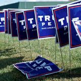 Police: Suspicious devices on Trump signs were theft alarms