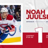 Canadiens sign defenseman Noah Juulsen to a one-year contract extension