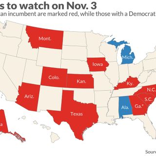 Here are the Senate races to watch, as Democrats battle to take control from Republicans