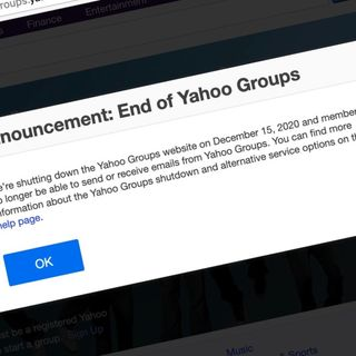 Final Nail in the Coffin for Yahoo Groups Lands Dec. 15
