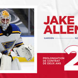 Canadiens sign Jake Allen to a two-year contract extension