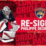 Florida Panthers Re-Sign Goaltender Philippe Desrosiers