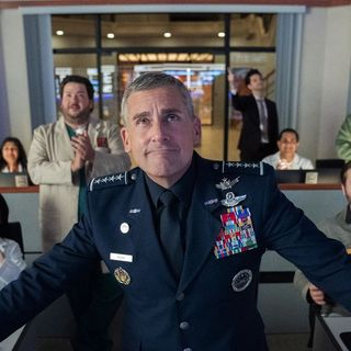 Steve Carell takes on space in the first images for Netflix's Office replacement