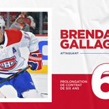 Canadiens sign forward Brendan Gallagher to a six-year contract extension