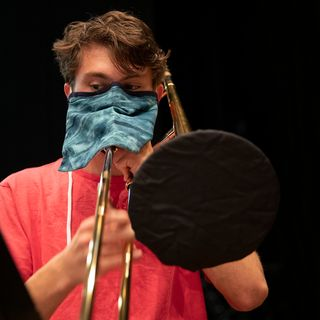 Musicians Improvise Masks for Wind Instruments to Keep the Band Together