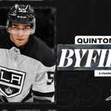 LA Kings Sign Quinton Byfield to Three-Year Entry-Level Contract