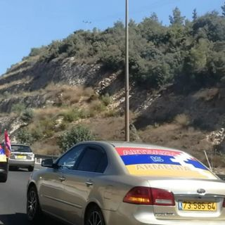 Dozens of Israelis make their way to Jerusalem in support of Armenia