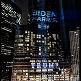 United Steelworkers shine 'Biden-Harris' projection on Trump Tower